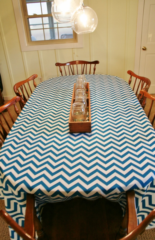 chevron table cloth