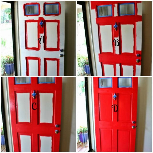 nice how to paint a front door design
