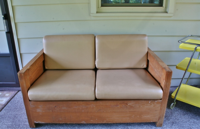 Refinishing a Cargo Loveseat