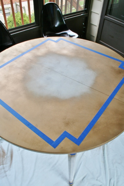Painting A Laminate Dining Table Emerald And Gold