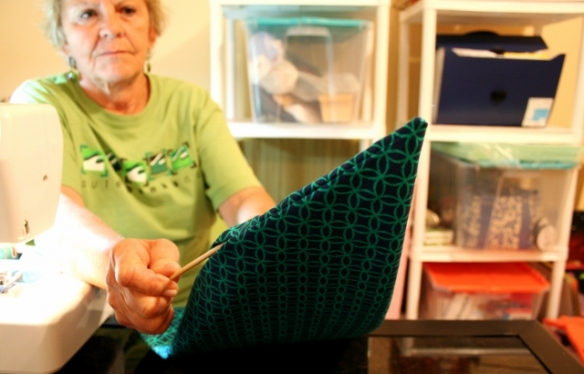 making-pillows-with-plastic-bag-stuffing