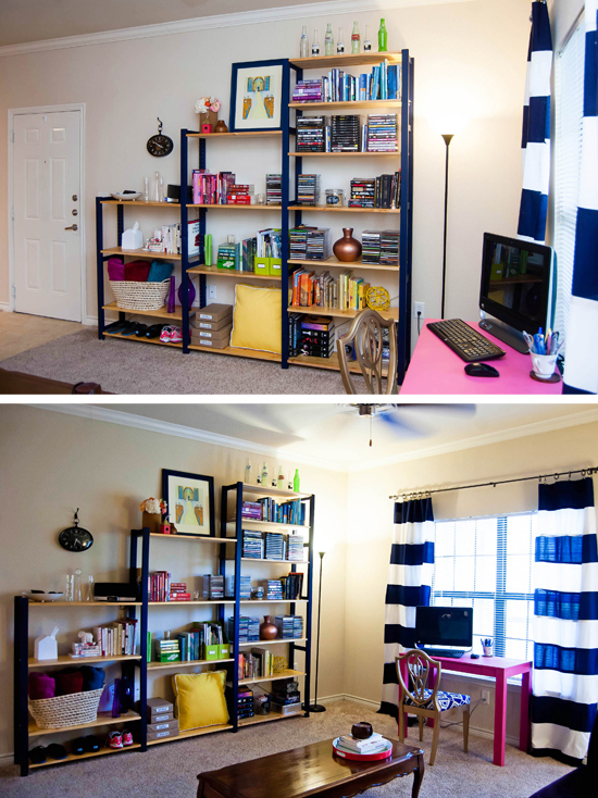 Blogger feature two live colorfully for Playroom living room combination