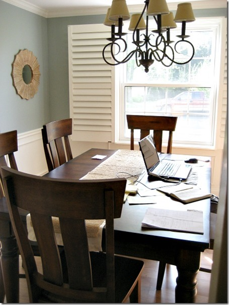Blogger feature involving color and involving home for Dining room office combo