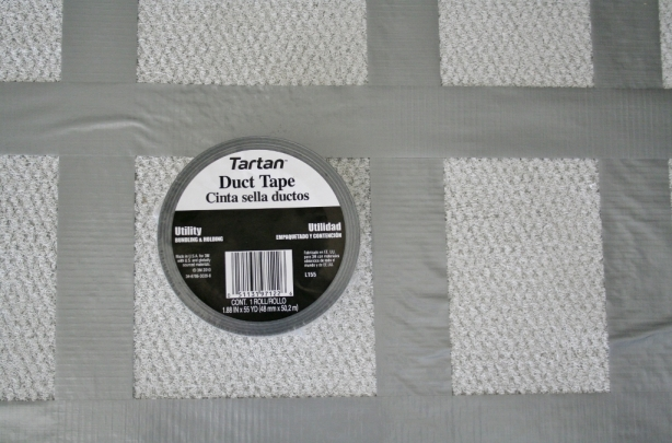 painting-a-rug-duct-tape