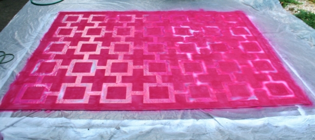 painting-a-rug-pink