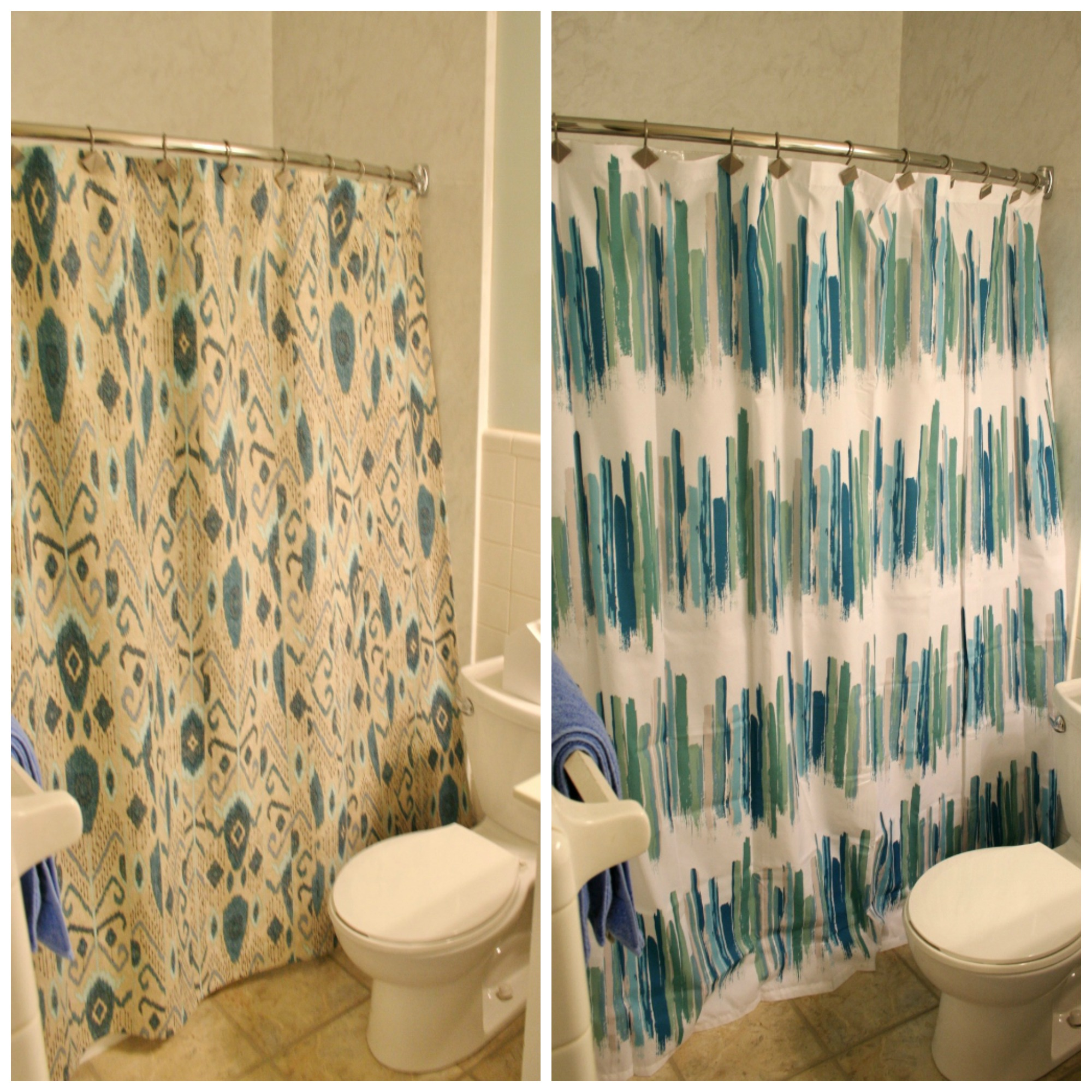 ikat versus modern shower