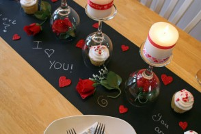 valentine's day diy dinner tablescape, Ideas