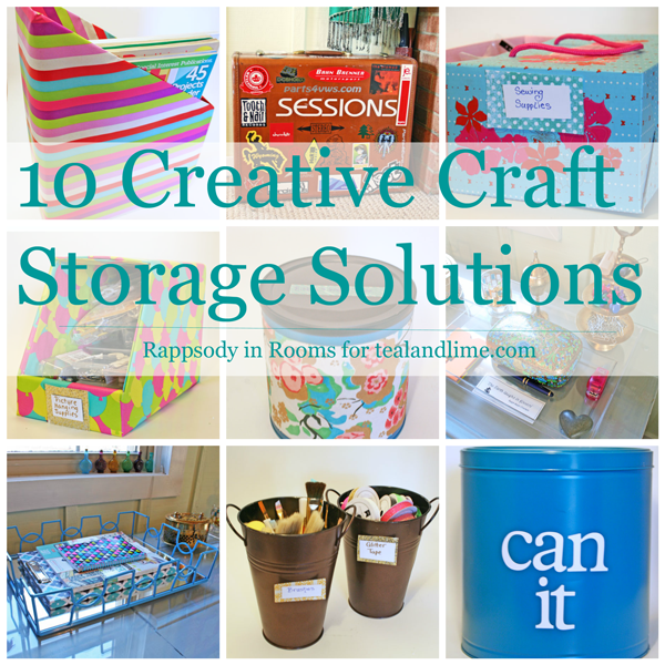 Creative Craft Storage Solutions in Plain Sight | www.rappsodyinrooms.com