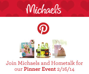 Michaels and Hometalk Pinterest Pary | www.rappsodyinrooms.com