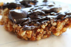 Date and Dark Chocolate Rice Krispy Treats | www.rappsodyinrooms.com