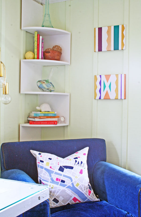 How to Paint a Geometric Canvas | www.rappsodyinrooms.com