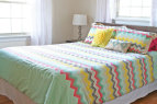 Adding a Bed Skirt As a Layer in a Room | www.rappsodyinrooms.com