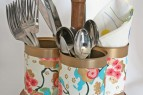 How to Make an Upcycled Utensil Caddy from Cans | www.rappsodyinrooms.com