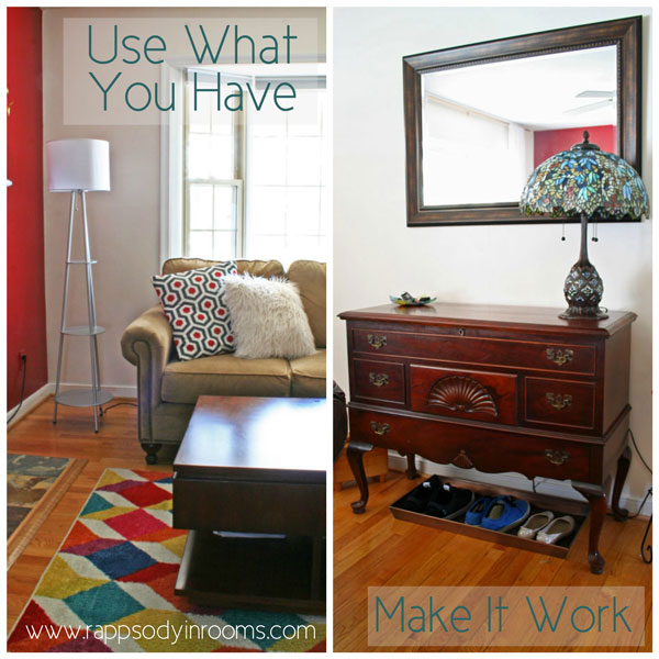Using What You Have and Making It Work Moments In The Living Room | www.rappsodyinrooms.com