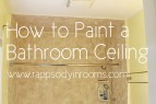 How to Paint a Bathroom Ceiling | www.rappsodyinrooms.com