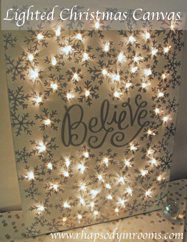Bloggers Secret Santa: DIY Lighting Christmas Canvas | www.rhapsodyinrooms.comLighted-Christmas-Canvas-11