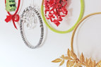 Embroidery Hoop Christmas Wreath Epicycles | www.rhapsodyinrooms.com