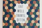 Eat Well Travel Often Hexagon Artwork | www.rhapsodyinrooms.com