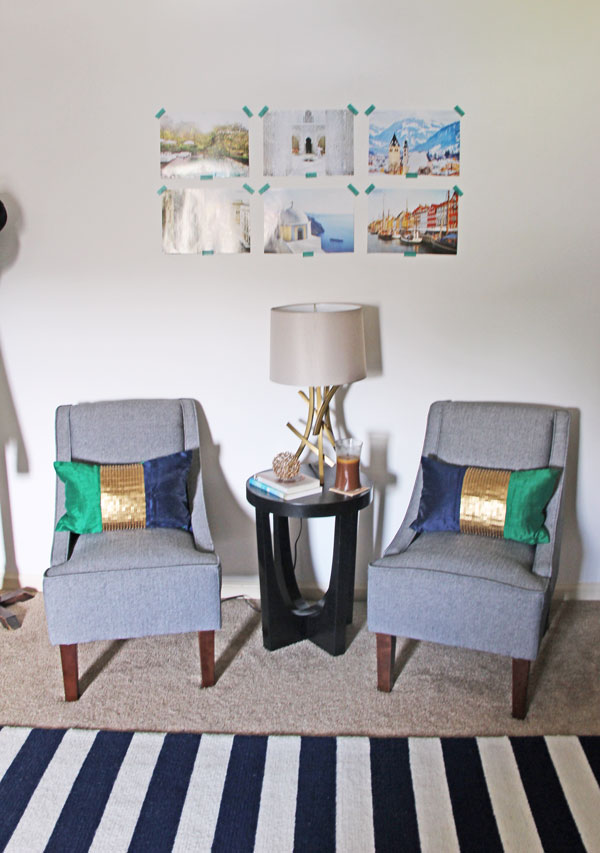 My Emerald, Navy, and Gold Living Room | www.rhapsodyinrooms.com