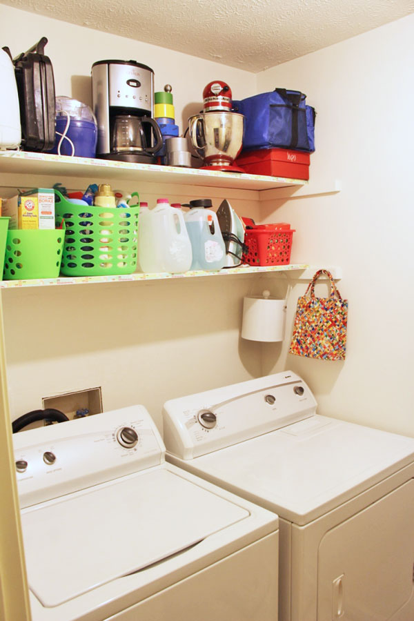 Organizing the Laundry Room with Fun Colors