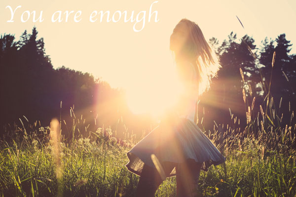 You are enough   www.rhapsodyinrooms.com