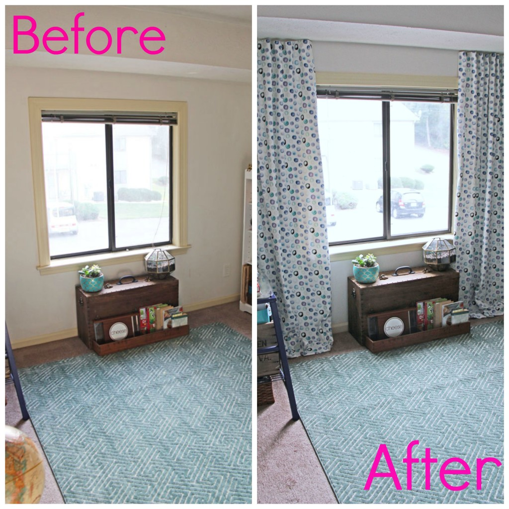 Fit Crafty Stylish And Happy Guest Bathroom Makeover: My Newly Minted Curtains
