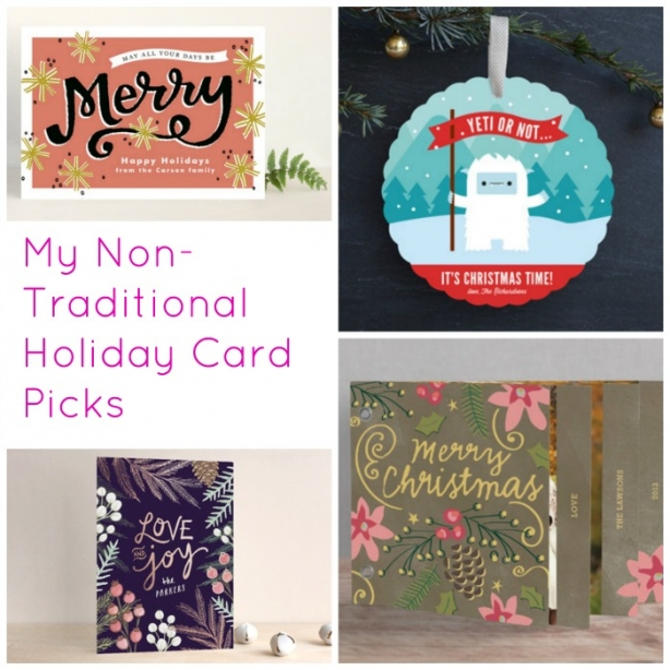 My Non-Traditional Holiday Card Picks | www.rhapsodyinrooms.com