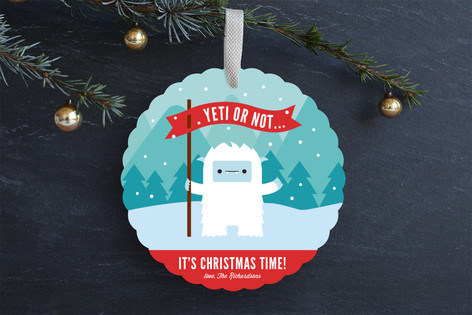 Yeti or Not Ornament Card From Minted | www.rhapsodyinrooms.com
