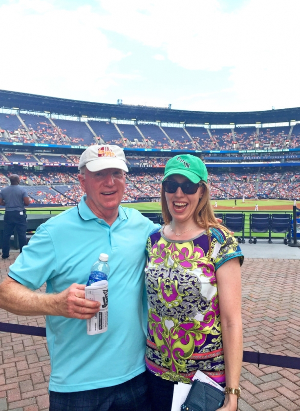 Dad and me at the Braves game!!
