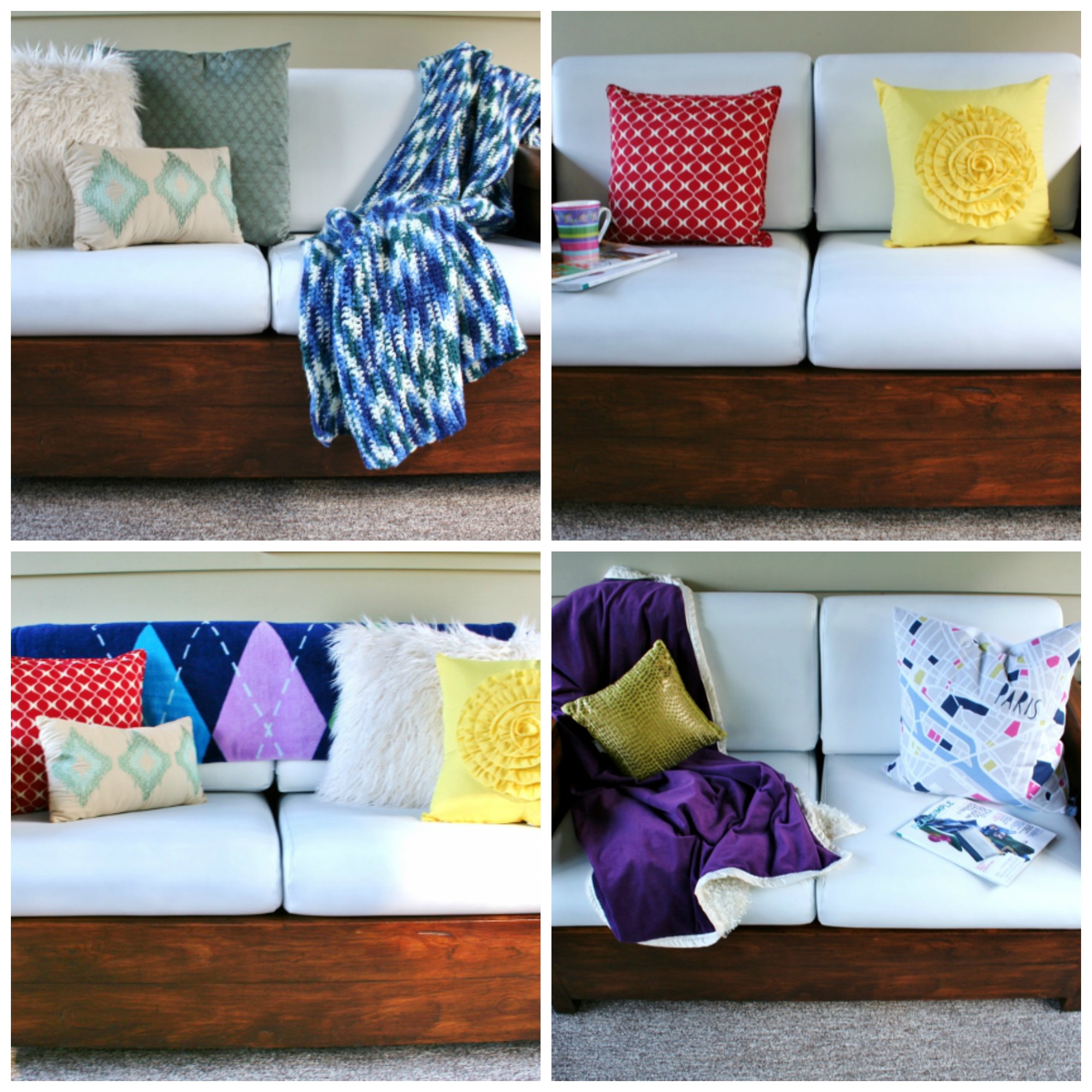 How to Make Beautiful Throw Pillows with Plastic Bag Filling