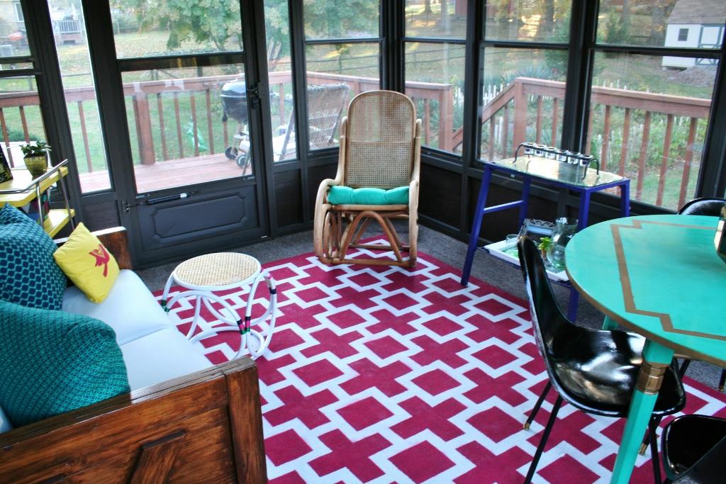 Painting An Indoor Outdoor Rug
